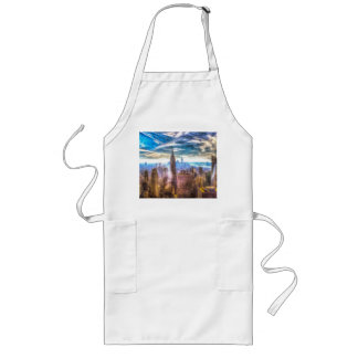 New York Manhattan Skyline Art Long Apron