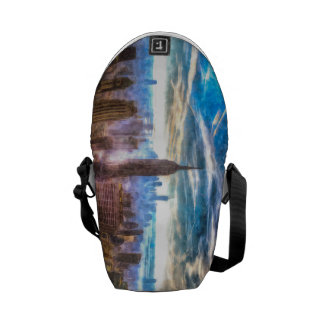 New York Manhattan Skyline Art Messenger Bag
