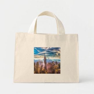 New York Manhattan Skyline Art Mini Tote Bag