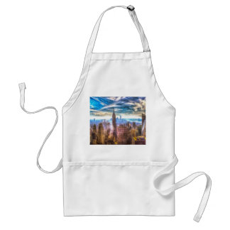 New York Manhattan Skyline Art Standard Apron