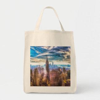New York Manhattan Skyline Art Tote Bag