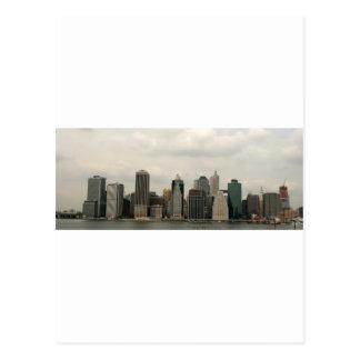New York - Manhatten from Brooklyn Postcard