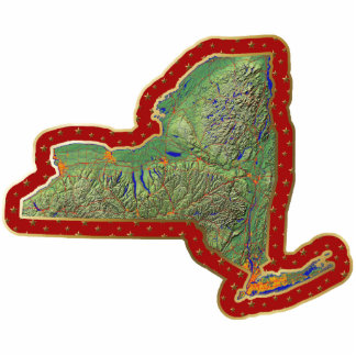 New York Map Christmas Ornament Cut Out