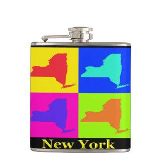 New York Map Flask