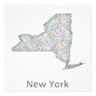 New York map Photo Print
