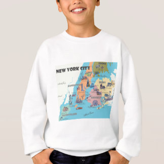 New York  Map Sweatshirt