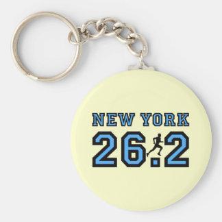 New York marathon Basic Round Button Keychain