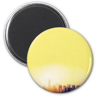 New York New York 2 Inch Round Magnet