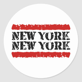 New York - New York Big City Design Round Sticker