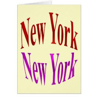 New York New York Card