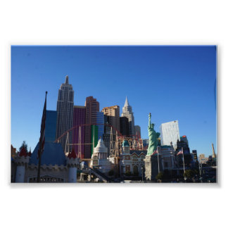 New York – New York Hotel Photo Print