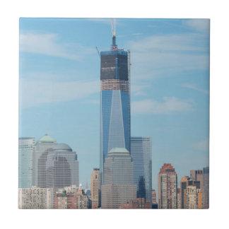 New York, New York. Manhattan City Skyline Ceramic Tile