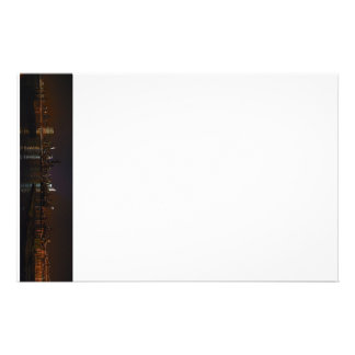 New York, New York night skyline stationary Stationery