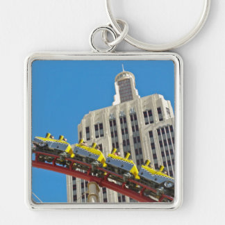 New York New York Roller Coaster keychain square
