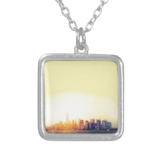 New York New York Silver Plated Necklace