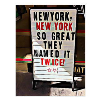 New York, New York Souvenir  NYC Postcard