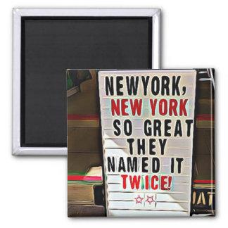 New York,, New York Souvenir Postcard Magnet