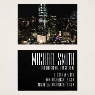 New York Night Downtown Manhattan Skyline NYC Business Card