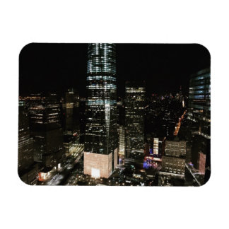 New York Night Downtown Manhattan Skyline NYC Magnet