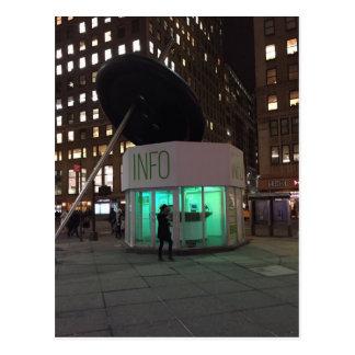 New York Night NYC Garment District Light Postcard