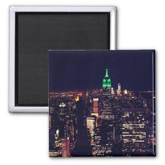 New York night skyline Magnet
