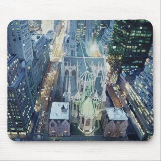 """New York Nightlights"" Watercolor Art Mouse Pad"