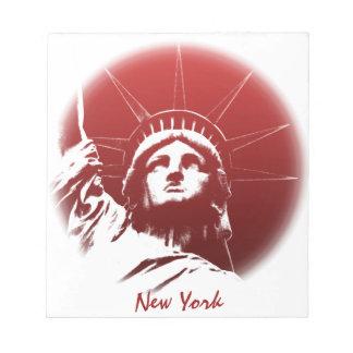 New York Notepad Custom Statue of Liberty Souvenir