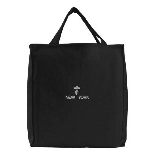 NEW YORK, NY BLACK TOTE CANVAS BAG