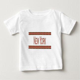 NEW YORK NY Elegant Red  Gold Border LOWPRICE Baby T-Shirt