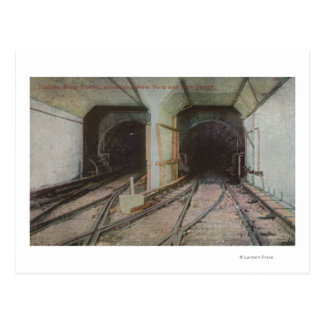 New York, NY - Hudson River Tunnel, Subway Syste Postcard