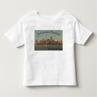 New York, NY - Just Arrived - The Wonderful City Toddler T-shirt