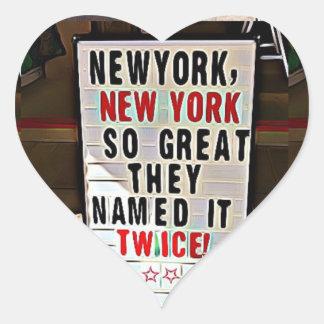 New York, NY New York City Heart Stickers
