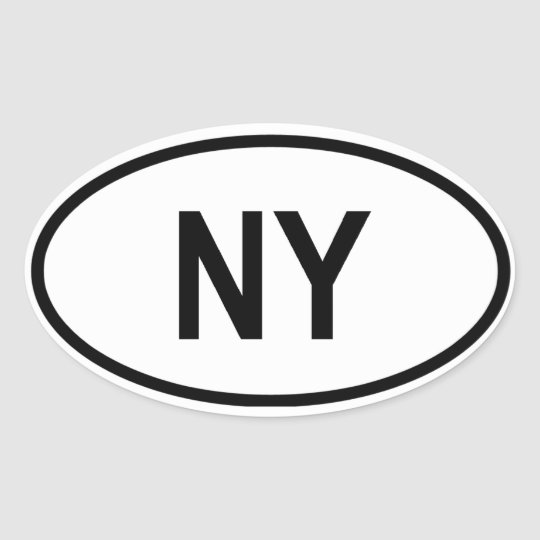 "New York ""NY"" Oval Sticker"
