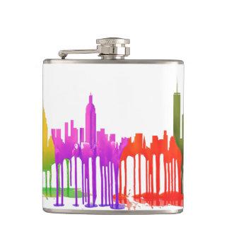 NEW YORK, NY SKYLINE PUDDLES - HIP FLASK