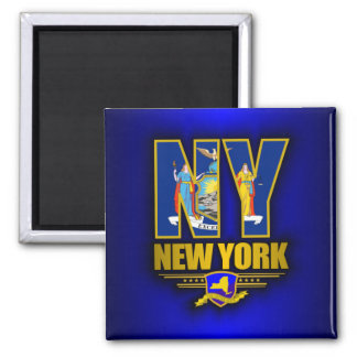 New York (NY) Square Magnet