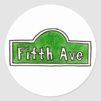 New York NYC 5th Fifth Avenue Street Sign Stickers