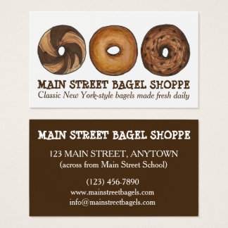 New York NYC Bagels Bagel Shop Food Breakfast Chef Business Card