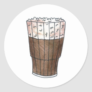 New York NYC Egg Cream Root Beer Float Stickers