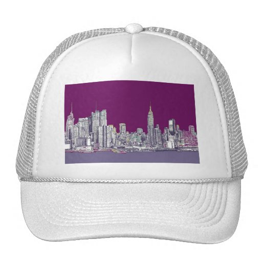 New York NYC purple Trucker Hats