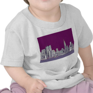 New York NYC purple Shirts