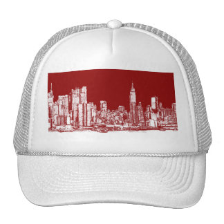 New York NYC red Trucker Hat
