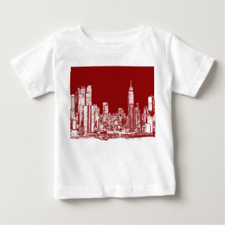 New York NYC red T-shirts