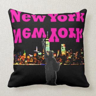 New York NYC Travel Pillow Statue of Liberty Night