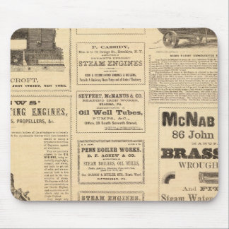 New York Oil Advertisements Mouse Pads