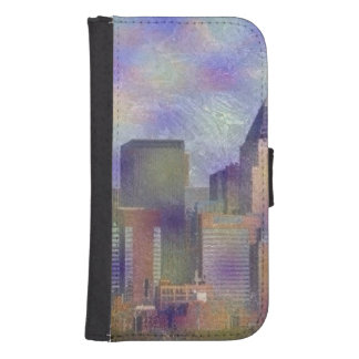 new york painted phone wallet case