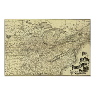 New York, Pennsylvania and Ohio Railroad Poster