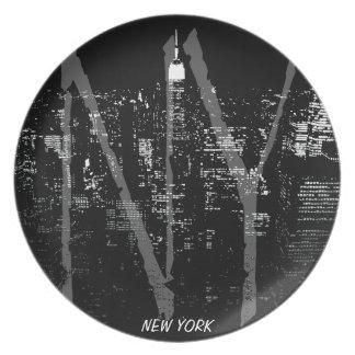New York Plate NY Souvenirs City Lights Plate