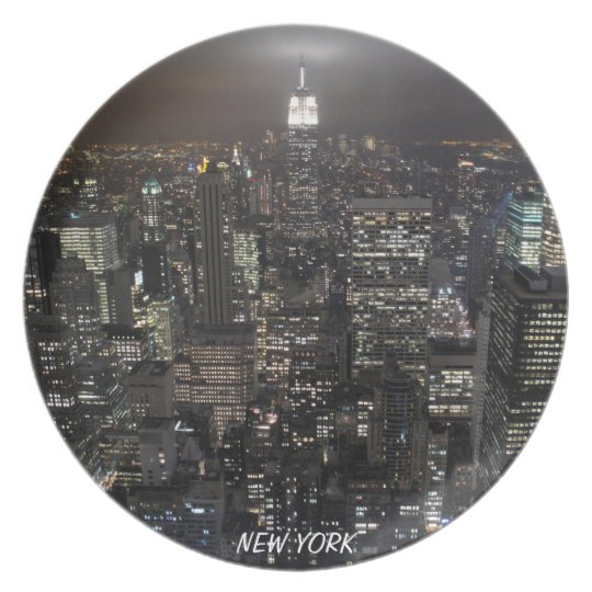 New York Plate NY Souvenirs City Lights Plate