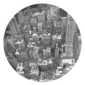 New York Plate NY Souvenirs Cityscape Plate