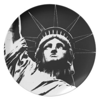 New York Plate NY Souvenirs Staue of Liberty Plate